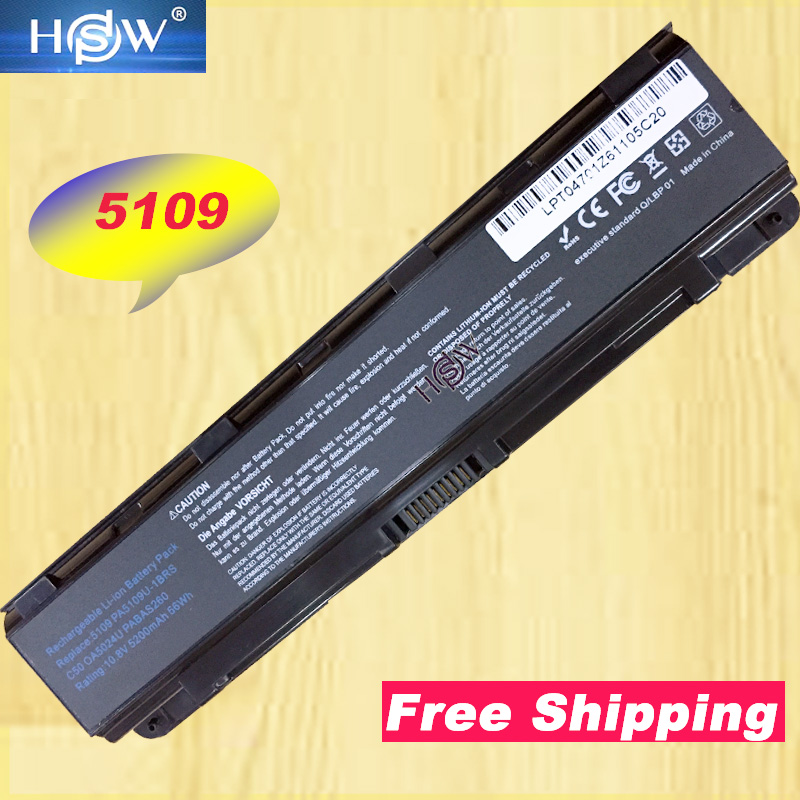HSW New Laptop Battery PA5109U-1BRS for <font><b>Toshiba</b></font> <font><b>Satellite</b></font> C855D <font><b>C55</b></font> C50 PA5109 PA5109U L800 L830 PABAS260 image