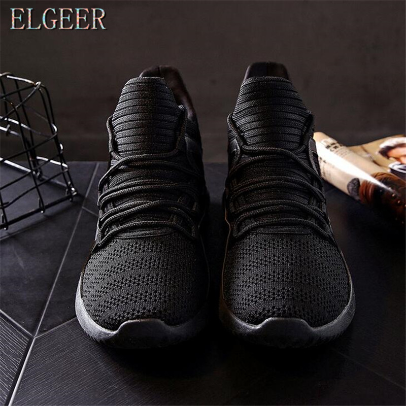 2018 spring and autumn new casual men's shoes flying mesh lace with - Men's Shoes - Photo 5