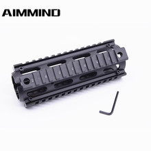 Tactical Airsoft AR-15 M4 Handguard Carbine 6.7 Inch RIS Quad Rail 2 Piece Drop-In Picatinny Mounting Rifle Hunting Accessories free shipping 12pcs cover ak47 ak74 tactical quad rails hunting handguard rail shooting ris quad rail mount accessories