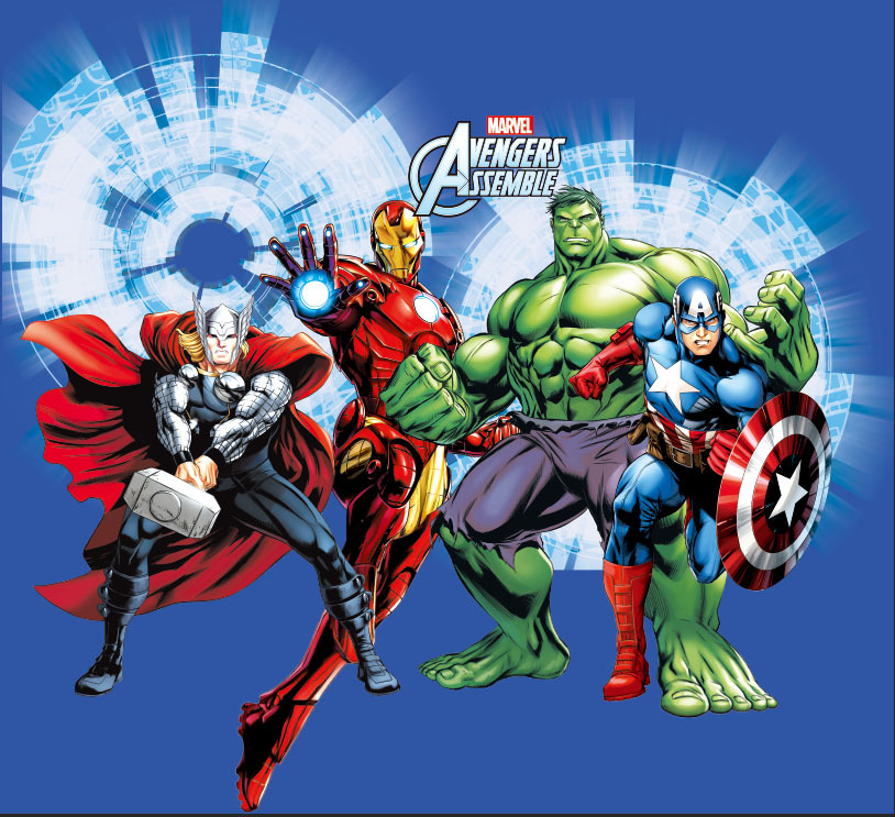 8x8ft avengers assemble super heroes captain america - Spiderman ironman and hulk ...