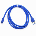 1.5M 5ft USB 3.0 Type A Male to Mini 10 Pin Type B Male Data Cable Dual Shielding(Foil+Braided) Super Speed