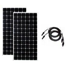 Panneau Solaire Portable 24v 300w 2 Pcs Panneaux 600w Batterie Chargeur Solar Home System Off Grid Motorhome Car