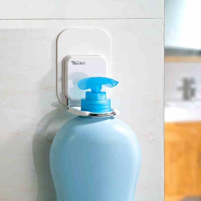 Strong adhesive rack bathroom wall mounted shower gel or shampoo ...