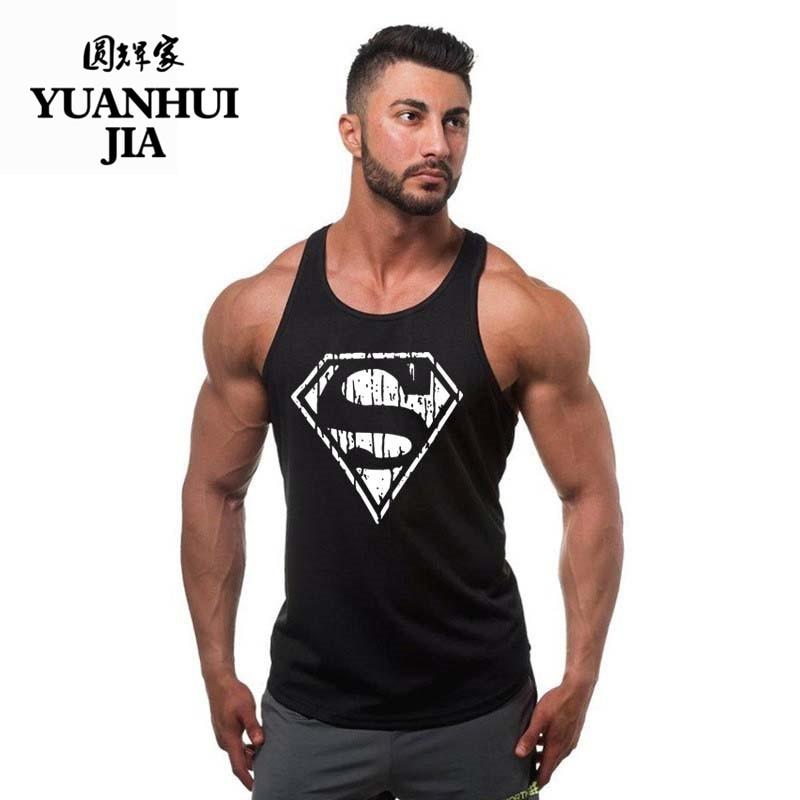 New Arrivals Bodybuilding stringer tank top Superman Gyms sleeveless t shirt men Fitness Vest Singlet sportswear workout tanktop