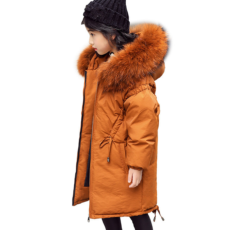 Fashion Children's Jackets Coats Warm Girls Down Coats Winter Clothing 2018 Jacket Long Girl Parka Outerwear Size 10 12 14 Year winter jacket woman parka fem me hiver women s long coats and jackets plus big size black navy hood jazzevar miegofce 2018 new