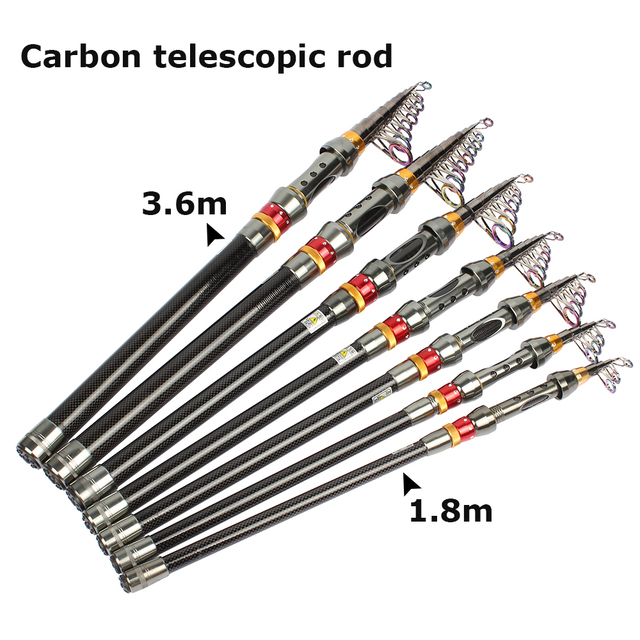 Telescopic fishing rod and reel combo set