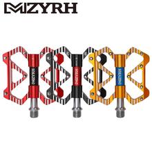 цена MZYRH MTB Mountain Bike Pedals Ultralight Aluminum Alloy 3 Sealed Bearings Platform Road Bicycle Pedals Universal онлайн в 2017 году