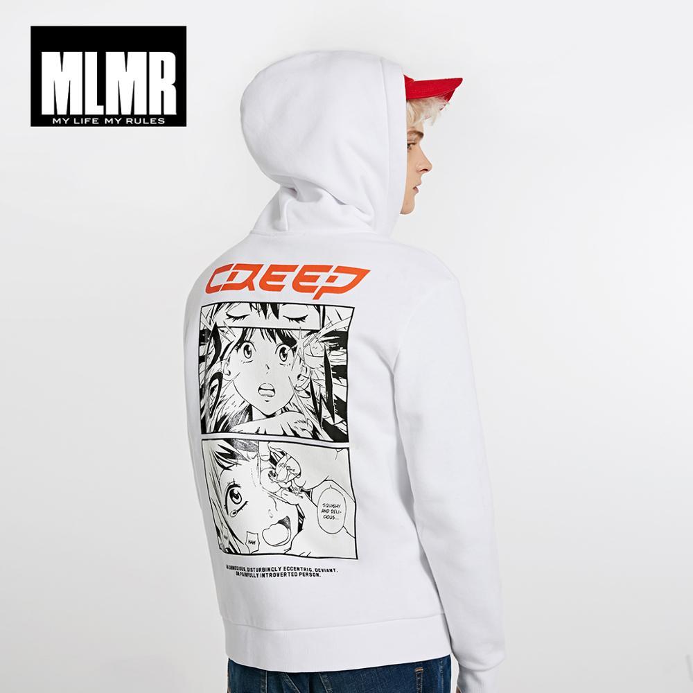 JackJones Winter Men's Cotton Hooded Sweatshirt Trends Hoodies Street Casual Print Hooded Pullover Top 218433501