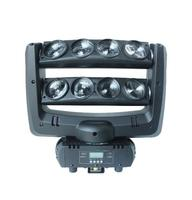 2pcs LOT Flight Case Led Spider Light Spider Moving Head 8 Heads 10w RGBW Mini Beam