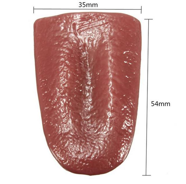 Gags Practical Jokes Kuso Tongue Trick Magic Horrible Tongue Fake Tounge Realistic Elasticity Toy horror Halloween toy