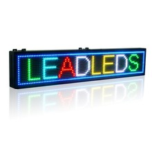 39X7.5 inch Full-color RGB LED sign usb programmable rolling information P10 indoor led display screen