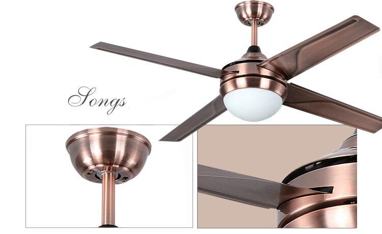 antique iron leaf led fan indoor ceiling fan light lamp minimalism modern ceiling fan with remote