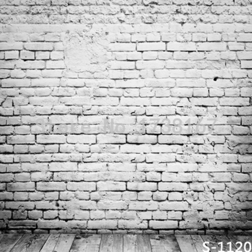 Wooden Floor And Brick Wall  Photography Backdrops Computer Printing Thin Vinyl Background For Photo Studio S-1120 allenjoy photography backdrops neat wooden structure wooden wall wood brick wall backgrounds for photo studio