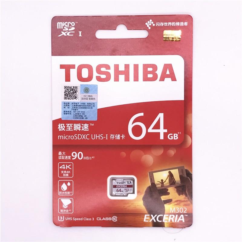 Оригинальный TOSHIBA exceria Micro SD карты SDHC/SDXC Class 10 U3 уровень 90 МБ/с. 16 ГБ 32 ГБ 64 ГБ 128 ГБ Поддержка официальный проверки ...
