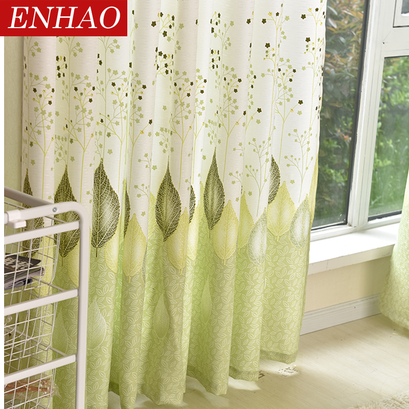 US $12.56 63% OFF|ENHAO Modern Blackout Curtains for Living Room Bedroom  Kitchen Printed Curtains for Window Blackout Curtains Drapes 70% shading-in  ...