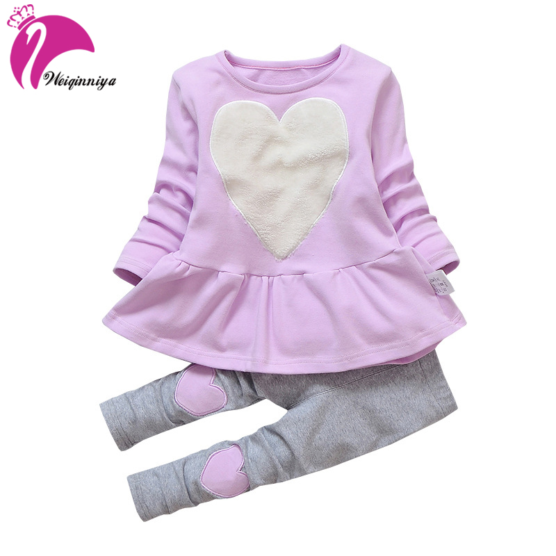 9bb1674df648 Baby Girl Clothing Sets New Fashion Long Sleeve Print Toddler Tshirt +  Pants 2PCS 1 2 3 4 Years Kids Girls Wear