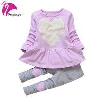 Baby Girl Clothing Sets New Fashion Long Sleeve Print Toddler Tshirt Pants 2PCS 1 2 3