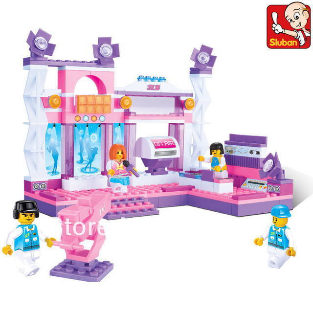 Sluban 176pcs/set DIY Enducational girl's dream series florid stage block toys . Free shipping !