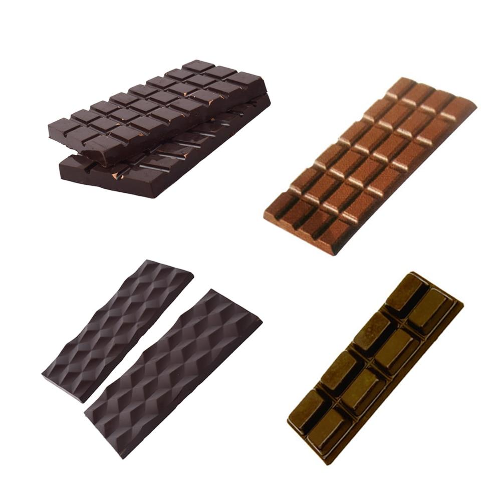 3D Schokolade Candy Bar Form Polycarbonat Kunststoff Formen Schokolade Bar Fach Backen Gebäck Bäckerei Werkzeuge für Schokolade Süßigkeiten Form