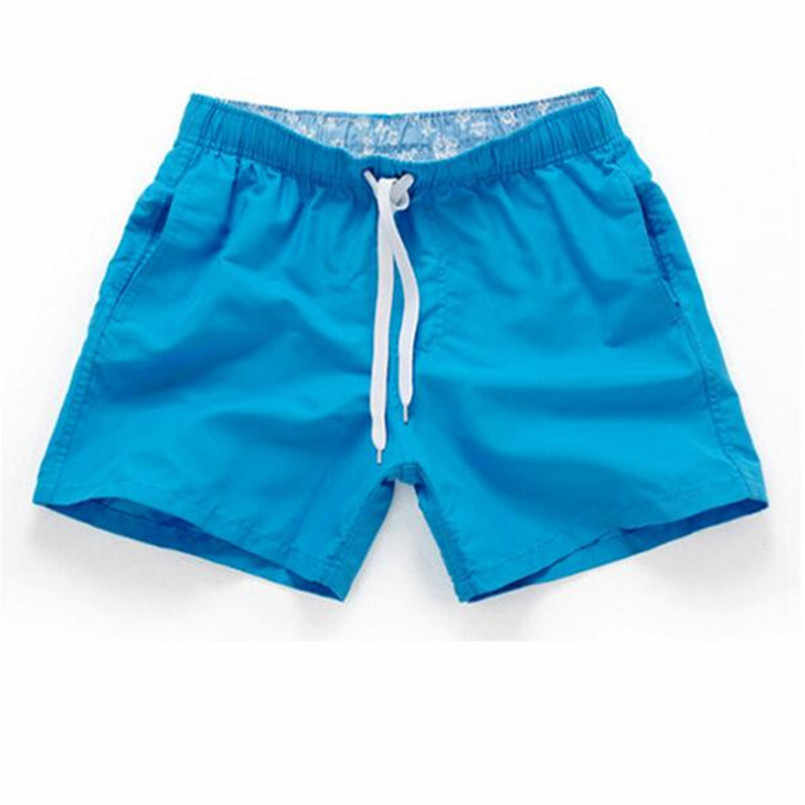 Zomer Board shorts mannen casual solid Mid Strand shorts mode gedrukt Taille shorts man Straight Trekkoord shorts S-3XL Hot koop