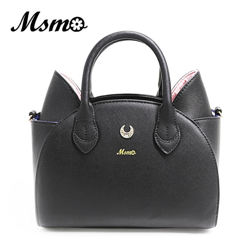 MSMO New Summer Cute Cat Bag Sailor Moon Luna Shoulder Handbags Fashion Casual Women Tote Top Handle Bags High Quality