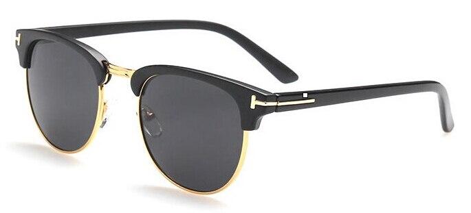 James Bond Sunglasses Men 2020 Brand Designer Semi rimless Retro Sunglass Oculos Tom for Sun glasses Women Eye glasses Frames |Men