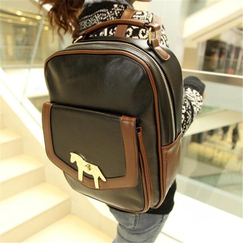 2016 Hot new rucksacks for girls Yinglun College wind tide bag shoulder travel bag pu college