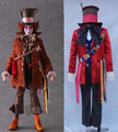 Alice's Adventures in Wonderland mad hatter Cosplay Costume with hat