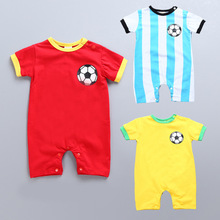 3282018 carnaval kigurumi costume world cup football fans baby rompers soft clothes for kids cool nylon fans wig for brazilian world cup yellow green
