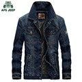 AFS JEEP 2016 джинсовый жакет Мужчины военные джинсы куртки хлопка мужской куртки и пальто Бренда clothing Весна Осень Плюс размер 4XL