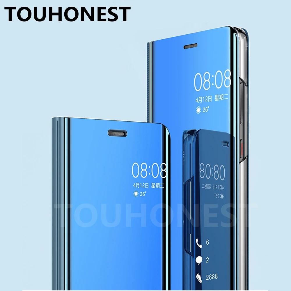Coque de téléphone portable Mate 10 lite 9, étui transparent à vue miroir pour Huawei Mate 10 Pro P20 P10 Plus P9 P 8 lite Honor 9 lite P Smart