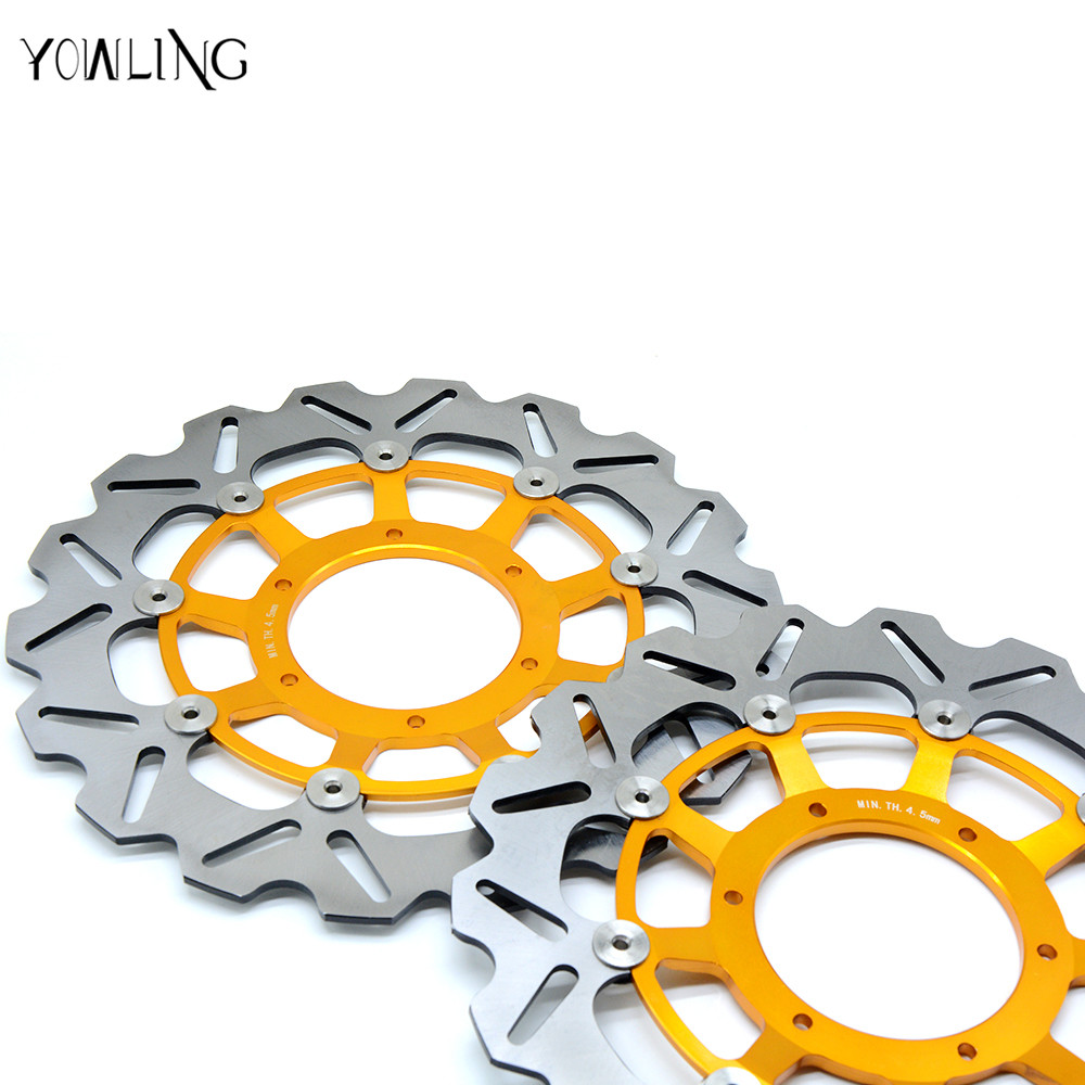 motorcycle parts Front Brake Disc Rotor For Honda CBR600RR 2003 2004 2005 2006 2007 2008 2009 2010 2011 2012 2013 2014 engine alternator clutch ignition cover set kit for honda cbr600rr cbr 600 rr 2007 2008 2009 2010 2011 2012 2013 2014 2015 2016