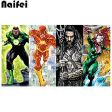 Full Square/Round Drill 5D DIY Diamond Painting Kits Rhinestone Embroidery Aquaman,Comics,Superhero Cross Stitch Movies Arts(China)