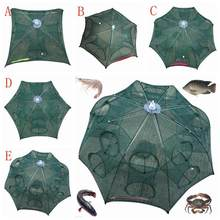 New hot 4-20 Holes Automatic Folding Fishing Net Shrimp Cage Nylon Foldable Crab Fish Trap Cast Net Cast Folding Fishing Tackle(China)