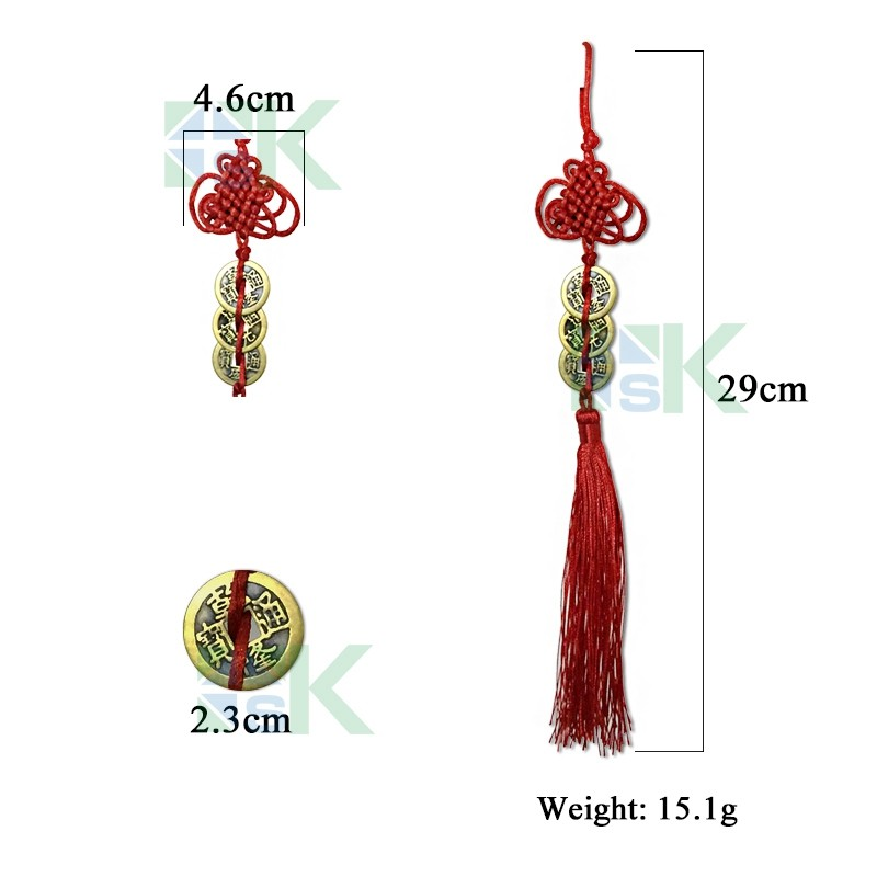 Us 1999 10pcs Chinese Antique Numismatique Feng Shui Coin For Car Hanging Decor Lucky Charm Pendant Good Fortune Attract Wealth Coins In