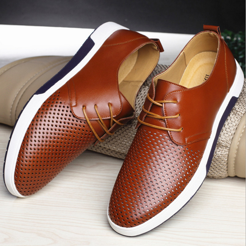 Men's shoes genuine leather breathable 20