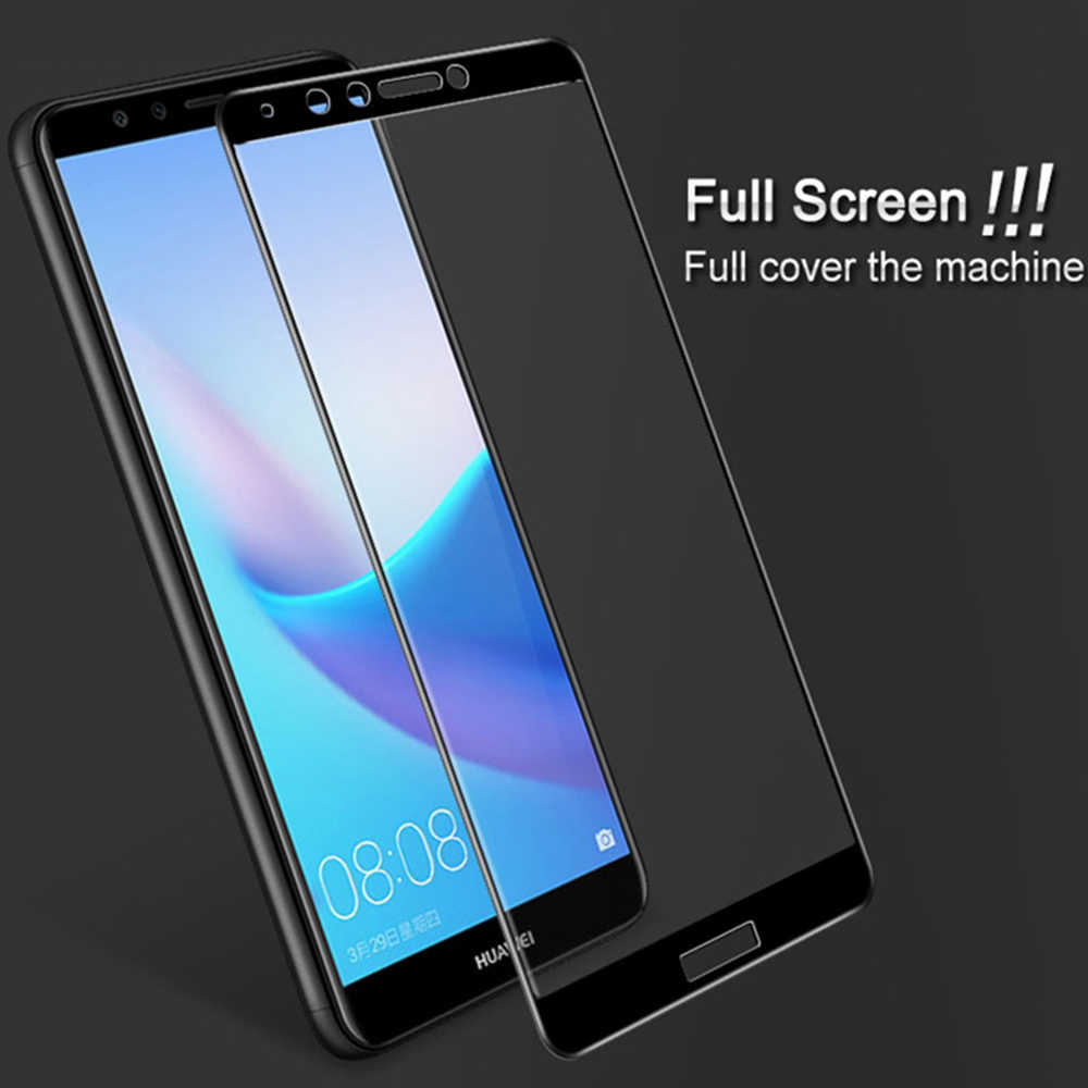 Защитный стеклянный чехол на для Huawei Y7 prime 2018 закаленное стекло y6 y9 y 7 6 9 prime 2018 Защитная пленка для экрана полное покрытие 9 H
