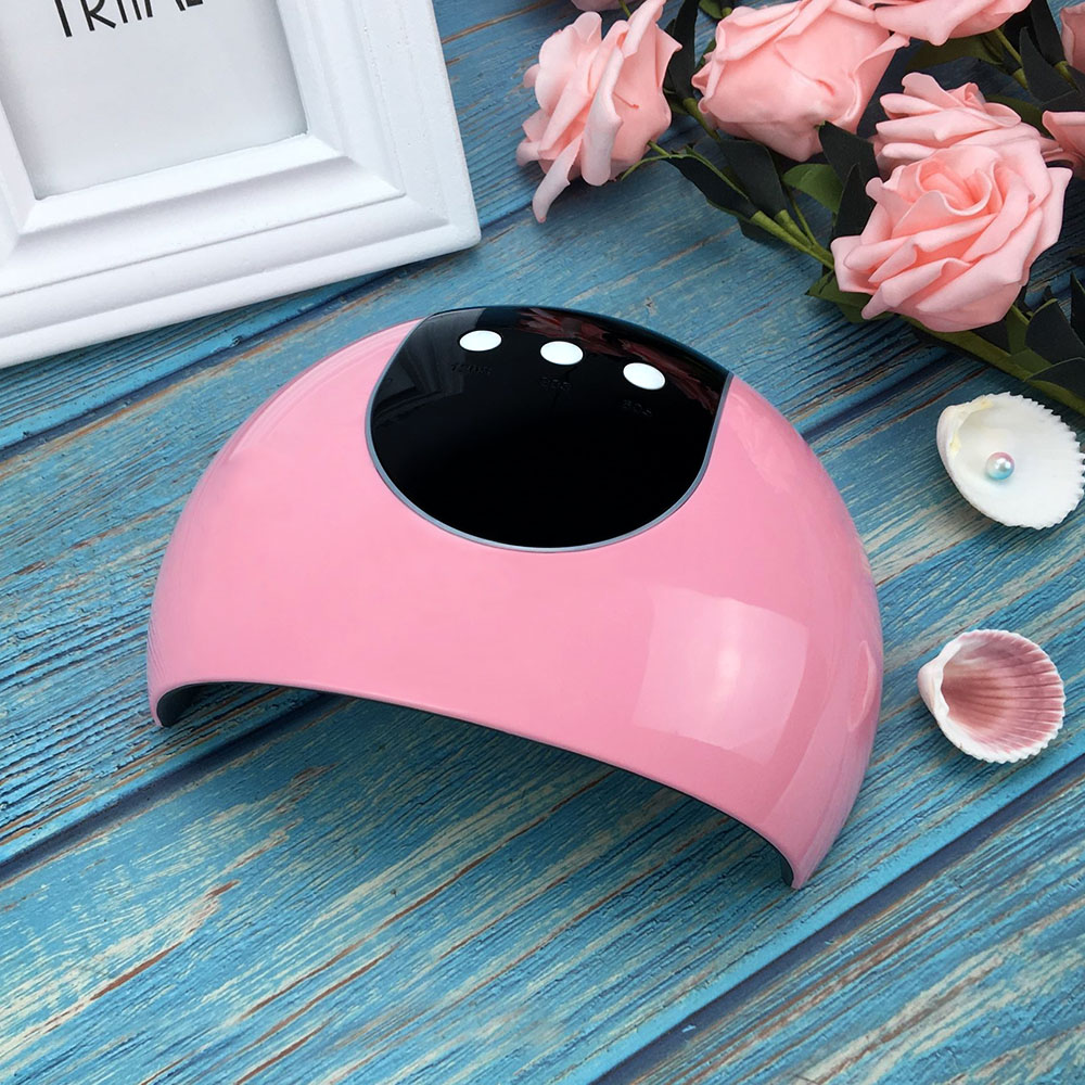 UV LED Lamp 24W Nail Dryer Lamp For Drying Nails Double light Auto Sensor with 60s/90s/120s Button Timer Manicure Machine