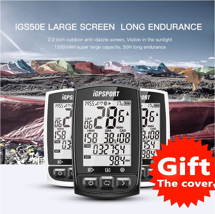 iGS50E 40 hours long battery life gps sport bike gps bicycle gps bike computer workable with speed cadence,heart rate