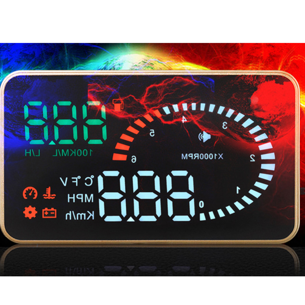 Universal X6 EM327 3 Inch Car HUD Head Up Display with Overspeed Warning System Projector Windshield