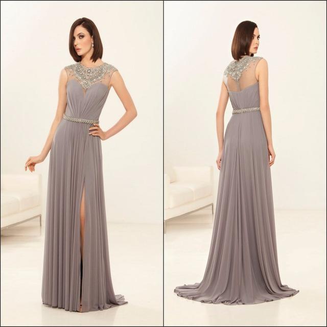 Real Fotos Frisada Longo de Chiffon Mãe Dos Vestidos de Noiva Elegantes Vestidos Mãe Do Noivo Mãe Vestidos Para Festa formal