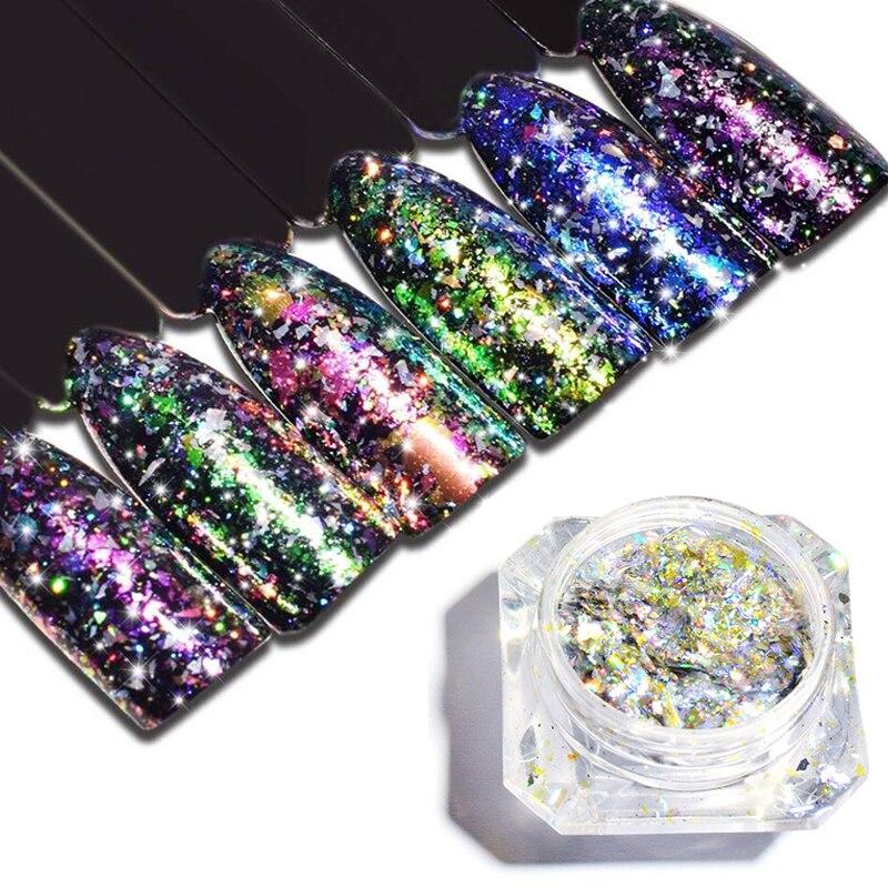 Nails Art & Werkzeuge Sonderabschnitt 1 Flasche Chameleon Nagel Glitters Pulver Chrom Pigment Diy Nagel Chrom Pigment Staub Maniküre Nagel Kunst Dekoration Werkzeug Sabsz01-12 Nagelglitzer