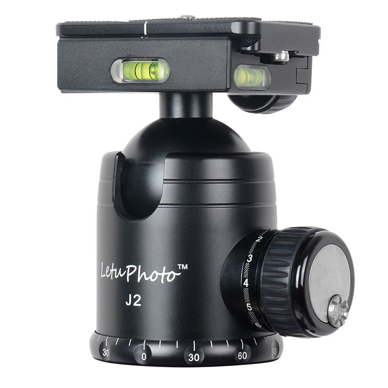 XILETU J2 360 degree Panoramic Swivel Camera Tripod Head Ballhead Quick Release Plate Fitting For Sirui Benro Manfrotto xiletu j2 360 panoramic panorama ballhead clamp aluminum alloy tripod head with quick release plate damping tuning system