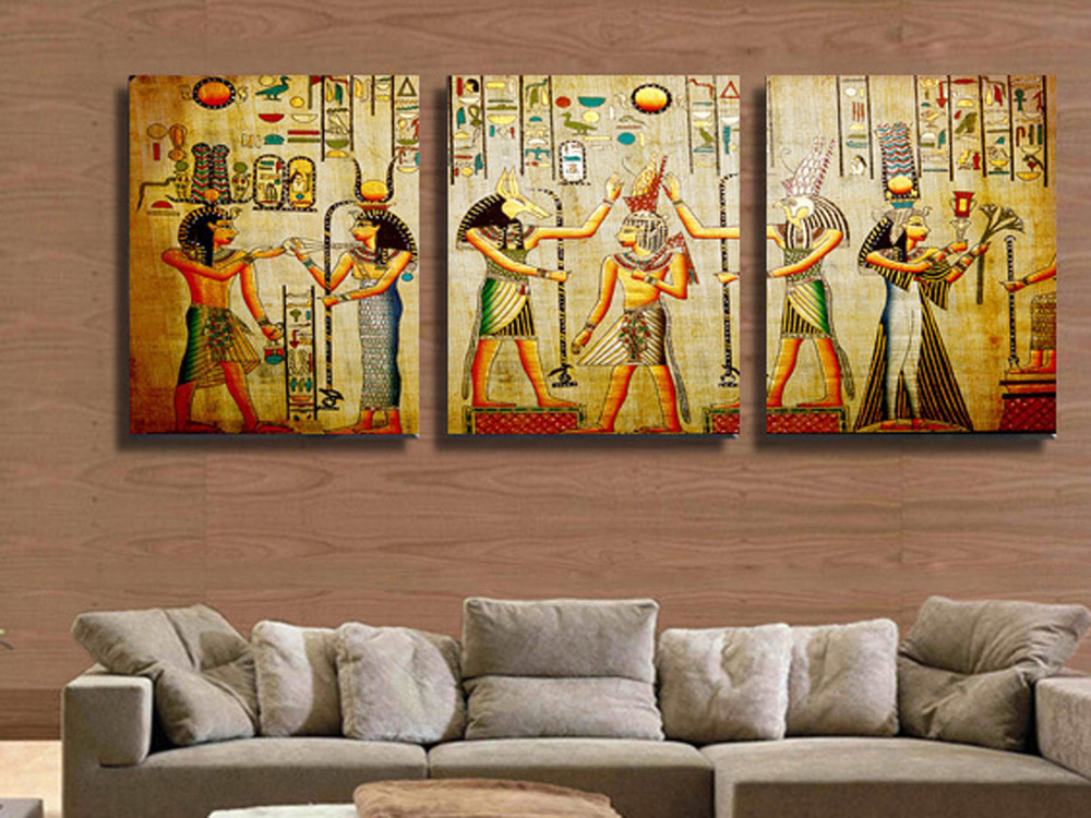 Popular pictures egyptian buy cheap pictures egyptian lots for Egyptian mural art