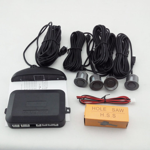 4 Ultrasonic Sensor LED Display Car Reverse Backup Radar System Indicator Buzzer Sensor Reverse Parking Radar Free Shipping