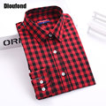 Dioufond Autumn Plaid Shirt Women Blouses Long Sleeve Blouse Women Shirts Plaid Blusas Femininas Flannel Womens Tops Fashion