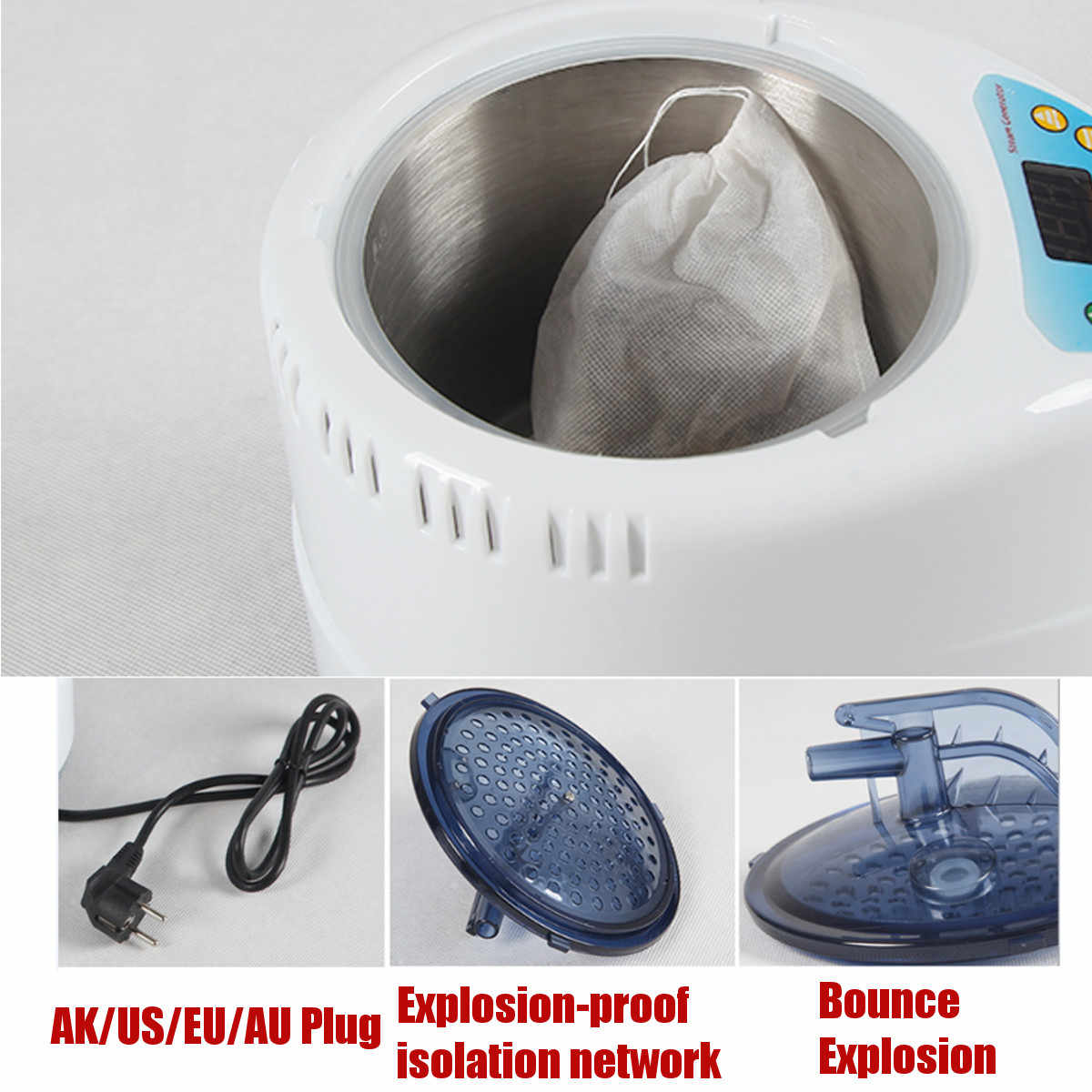 71*23*30 см Паровая сауна Портативный бытовой сауна комната выгодно кожи инфракрасная, для похудения калорий спа-ванна с сауна в виде 220 V