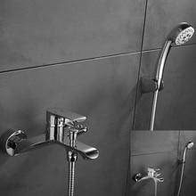 Shower Faucet With Handheld Showerhead Shower Bathtub Faucet Mixer Tap Bathroom Faucet Tap 2 Functions Shower Mixer стоимость