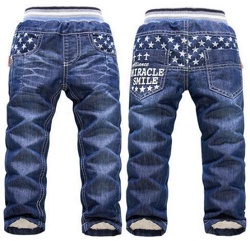 2016 новых прибытия теплые толстые зимние брюки для Мальчиков Kk-кролик бренд дети мальчик джинсы больших мальчиков джинсы розничная