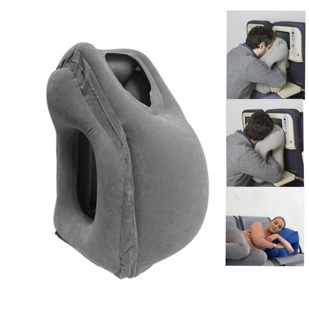 Inflatable Cushion Travel Pillow The Most Diverse & Innovative Pillow for Traveling 2017 Airplane Pillows Neck Chin Head Support
